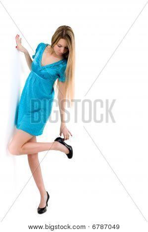 Picture Of Beautiful Girl With Black Shoes