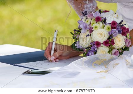 Bride Signed Contract
