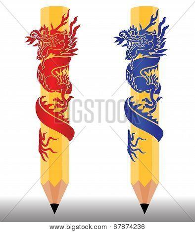 Dragon Pencils