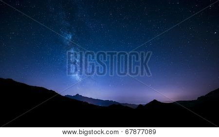night sky stars with milky way