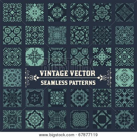 36 Seamless Patterns Background Collection - for design and scrapbook - in vector