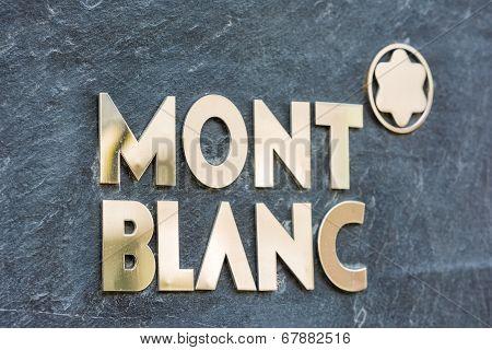 Mont Blanc Sign