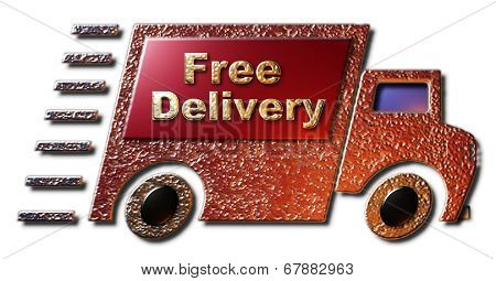 Free Delivery (Red & Gold)