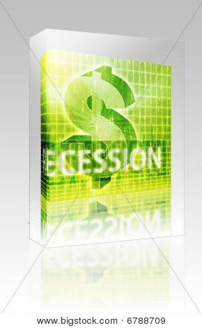 Recession Finance Illustration Box Package Box Package