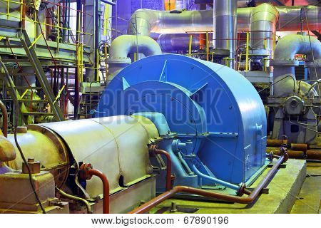 Industrial zone.Factory equipment