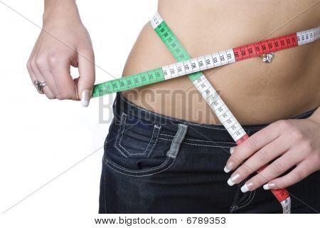 Cintura medindo