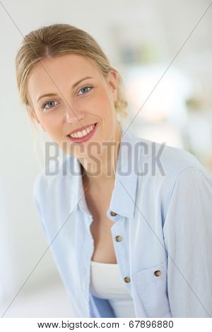 Portrait of beautiful 20-year-old woman