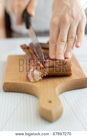 Slicing Bacon Strips