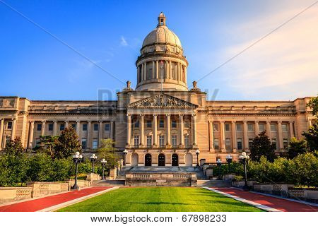 Capitol building in Frankfort, Kentucky