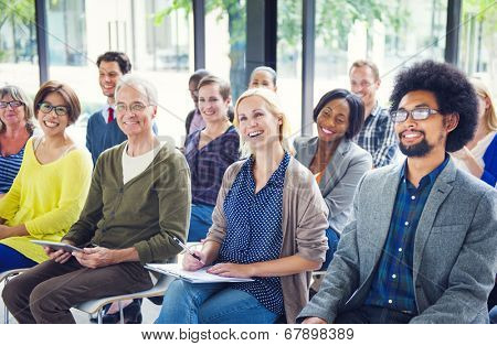 Group of Diverse Multiethnic Cheerful Audience