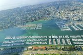 stock photo of west village  - Aerial view of the Marina in Point Loma peninsula San Diego Southern California United States of America - JPG