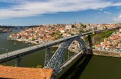 picture of dom  - Porto with Dom Luis Bridge  - JPG
