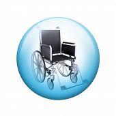 picture of spherical  - Black wheelchair - JPG