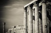 image of olympian  - Greek columns Temple of Olympian Zeus Athens - JPG
