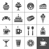 foto of bagel  - Cafe and confectionery icon set - JPG