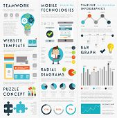 picture of puzzle  - Set of Infographic Elements - JPG