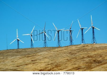 group of windmills