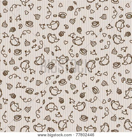 Seamless sweet tea pattern