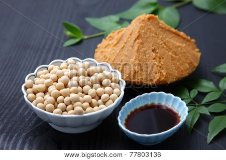 Japaneese traditional soybean processed foods