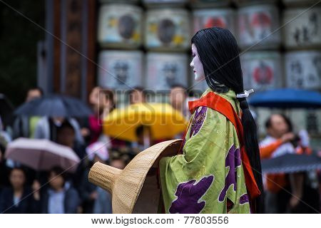 Kyoto, Japan - October 22 2014: Unidentified Participants At The