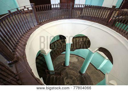Empty Rotunda Interior Entrance Of An Apartment House