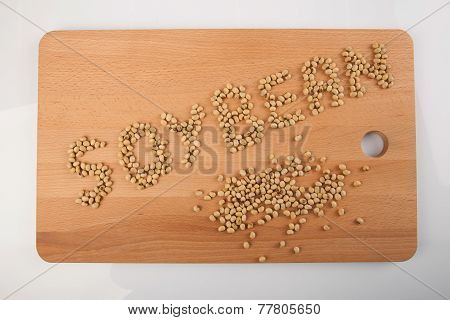 Soybeans In Shape Of Soybean Word