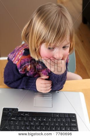 Child Laptop Working