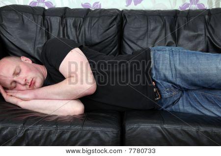 Sleeping Sofa Man