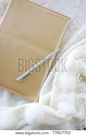 Golden Book With Silver Pen