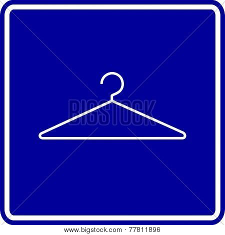 wire clothes hanger sign