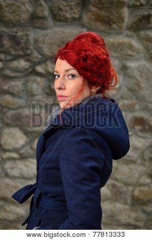 Serious Redhead Girl