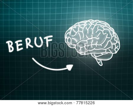 Beruf Brain Background Knowledge Science Blackboard Turquoise