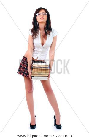 Young Attractive Sexy Schoolgirl