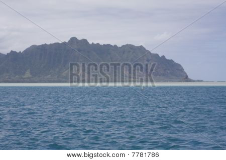 Oahu's Kaneohe Bay And Sand Bar