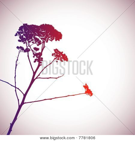 Colorful tree silhouette. vector illustration
