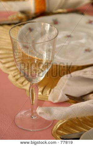 Wineglass At Table
