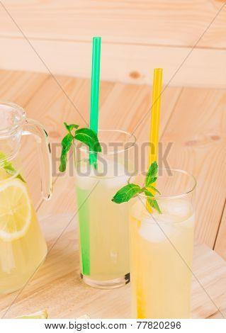 pitcher full of lemonade