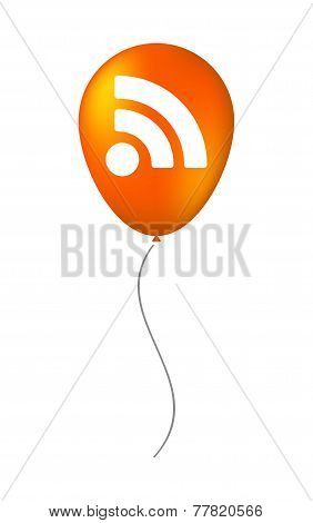 Balloon Icon With A Rss Sign