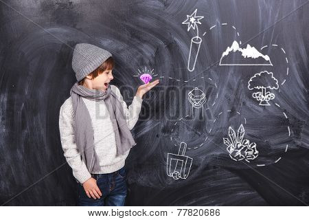 A Boy Plays In The Quest