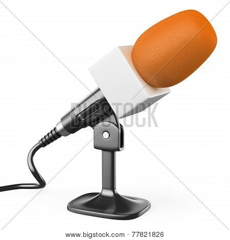 3D Orange Microphone