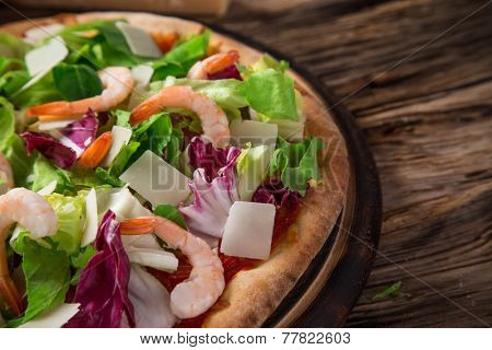 Delicious italian pizza