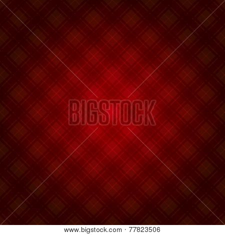 Red Fabric Tartan Background. Vector