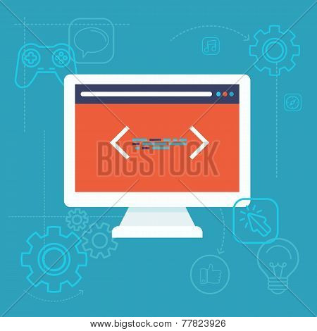 Vector Software Testing Concept In Flat Style