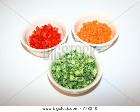 Bowls of Vegetables