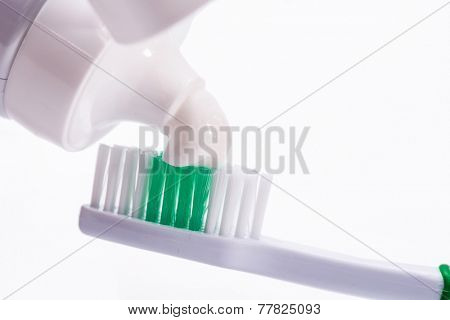 Dental. Toothbrush with a toothpaste