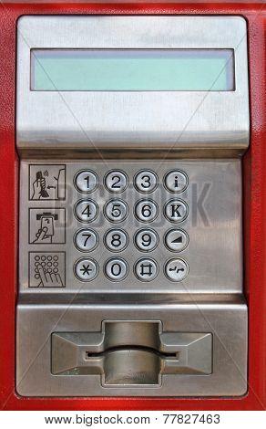 Payphone Keaypad Detail