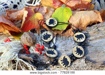 Ethnic Handmade Wooden Bracelet With Elephants