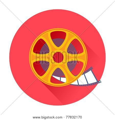 Cinema film movie reel icon