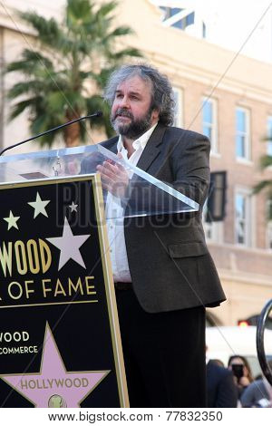 LOS ANGELES - DEC 8:  Peter Jackson at the Peter Jackson Hollywood Walk of Fame Ceremony at the Dolby Theater on December 8, 2014 in Los Angeles, CA