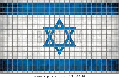 Mosaic flag of Israel
